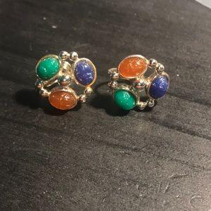 Vintage Scarab screw back earrings